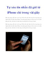 Tài liệu Tự xóa tin nhắn đã gửi từ iPhone chỉ trong vài giây potx
