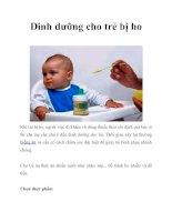 Tài liệu Dinh dưỡng cho trẻ bị ho docx