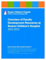 Tài liệu Overview of Faculty Development Resources at Boston Children's Hospital 2012-2013 docx