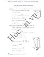 Bài toán lăng trụ biết góc giữa hai mặt phẳng
