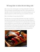 Tài liệu Bổ sung kẽm và selen cho trẻ đúng cách pdf