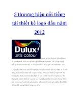Tài liệu 5 thương hiệu nổi tiếng tái thiết kế logo đầu năm 2012 pdf