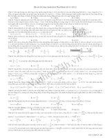 Tài liệu Đề Thi Thử Đại Học Khối A Vật Lý 2013 - Đề 39 docx