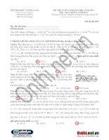 Tài liệu Đáp Án Đề thi đại học môn Vật lí năm 2013 - Mã đề 859 - khối A docx