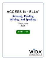 Tài liệu ACCESS for ELLs® Listening, Reading, Writing, and Speaking docx