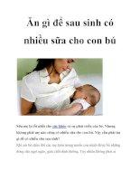 Tài liệu Ăn gì để sau sinh có nhiều sữa cho con bú potx