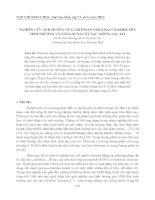 Tài liệu NGHIÊN CỨU ẢNH HƯỞNG CỦA CHITOSAN OLIGOSACCHARIDE LÊN SINH TRƯỞNG VÀ NĂNG SUẤT CÂY LẠC GIỐNG LẠC L14 pptx