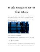 Tài liệu 10 điều không nên nói với đồng nghiệp ppt