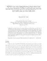 Nghiên cứu ứng dụng phương pháp phân tích quang học để đánh giá khả năng hấp phụ Cr(VI) và Cr(III) của vỏ trấu biến tính