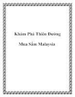 Tài liệu Khám Phá Thiên Đường Mua Sắm Malaysia pptx