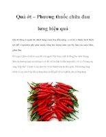 Tài liệu Quả ớt – Phương thuốc chữa đau lưng hiệu quả pptx