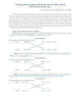 ử dụng phương pháp sơ đồ đường chéo để nhẩm nhanh một số bài toán hóa học