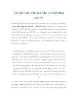 Tài liệu Tải video clip trên YouTube với định dạng siêu nét pptx