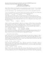 Bài toán khó cơ học trong ôn thi ĐH môn lý - dành cho học sinh đạt điểm tối đa