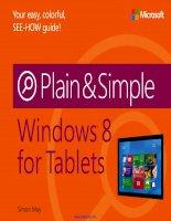 Tài liệu Windows 8 for Tablets Plain & Simple pot