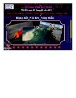 Cấu tạo bên trong trái đất và các thiên tai núi lửa- Động đất- sóng thần