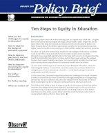 Tài liệu Ten Steps to Equity in Education doc