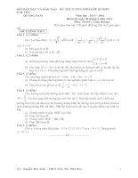 Tài liệu ĐỀ THI TUYỂN SINH LỚP 10 THPT CHUYÊN NĂM HỌC 2013- 2014 Môn thi: TOÁN (Đề Chung) - SỞ GIÁO DỤC VÀ ĐÀO TẠO QUẢNG NAM potx