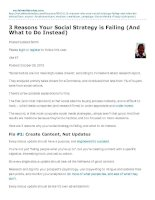 3 Reasons Your Social Strategy is Failing (And What to Do Instead)