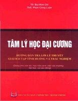 Tâm lý học đại cương: Hướng dẫn trả lời lí thuyết, giải bài tập tình huống, trắc nghiệm - TS. Bùi Kim Chi, ThS. Phan Công Luận