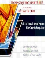 Tài liệu Đề Tài Thuyết Trình Nhóm:Kết Chuyển Song Song doc