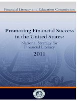 Tài liệu PROMOTING FINANCIAL SUCCESS IN THE UNITED STATES: NATIONAL STRATEGY FOR FINANCIAL LITERACY 2011 docx