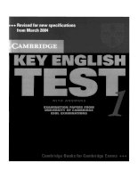 key english test 1