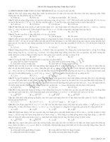 Tài liệu Đề Thi Thử Đại Học Khối A Vật Lý 2013 - Đề 38 ppt