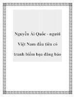 Tài liệu Nguyễn Ái Quốc - người Việt Nam đầu tiên có tranh biếm họa đăng báo pdf