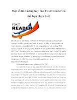 Tài liệu Một số tính năng hay của Foxit Reader có thể bạn chưa biết pptx