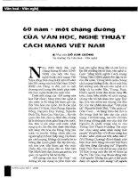Tài liệu Báo cáo khoa học: 60 năm-một chặng đường của văn học, nghệ thuật cách mạng Việt Nam doc