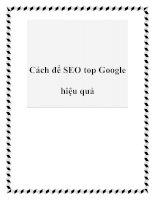 Tài liệu Cách để SEO top Google hiệu quả ppt