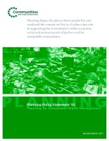 Tài liệu Planning Policy Statement 10: Planning for Sustainable Waste Management pptx