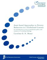 Asset based approaches to poverty reduction moser 2