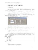 Tài liệu Hướng dẫn thực hành Lập trình C trên Windows - GIỚI THIỆU VỀ LIST CONTROL pptx