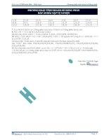 Tài liệu Phương pháp tính nhanh số đồng phân đáp án bài tập tự luyện ppt