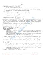 Tài liệu BỘ 40 ĐỀ ÔN THI ĐẠI HỌC - khối A môn Toán pptx