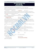 Tài liệu ĐÁP ÁN ĐỀ THI THỬ ĐẠI HỌC SỐ 02 MÔN: HÓA HỌC pdf