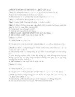 Tài liệu Đề Thi Thử Tốt Nghiệp Toán 2013 - Phần 2 - Đề 20 pptx
