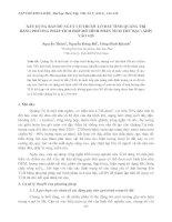 Tài liệu XÂY DỰNG BẢN ĐỒ NGUY CƠ TRƯỢT LỞ ĐẤT TỈNH QUẢNG TRỊ BẰNG PHƯƠNG PHÁP TÍCH HỢP MÔ HÌNH PHÂN TÍCH THỨ BẬC (AHP) VÀO GIS potx