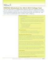 Tài liệu PROFILE Worksheet for 2012-2013 College Year ppt