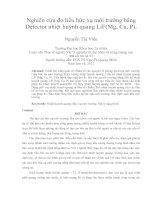 Nghiên cứu đo liều bức xạ môi trường bằng detector nhiệt huỳnh quang lif(mg, cu, p)