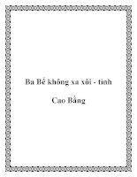 Tài liệu Ba Bể không xa xôi - tỉnh Cao Bằng ppt