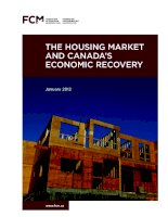 Tài liệu The housing MarkeT and Canada's eConoMiC reCovery ppt