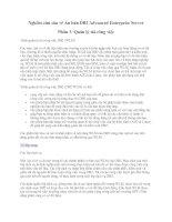 Tài liệu Nghiên cứu sâu về Ấn bản DB2 Advanced Enterprise Server Phần 3: Quản lý tải công việc pot