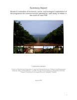 Tài liệu Research evaluation of economic, social, and ecological implications of the programme for commercial tree plantations: case study of rubber in the south of Laos PDR pptx