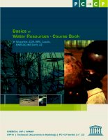 Tài liệu Basics of Water Resources Course book Course A doc