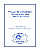 Tài liệu Vitamin D Deficiency: Information for Cancer Patients docx