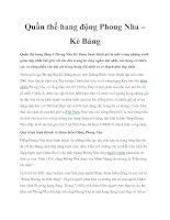 Tài liệu Quần thể hang động Phong Nha – Kẻ Bảng pdf