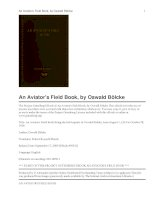 Tài liệu An Aviator''''s Field Book Being the field reports of Oswald Bölcke, from August 1, 1914 to October 28, 1916 doc